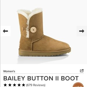 UGG Bailey Button Boot 8 Chestnut
